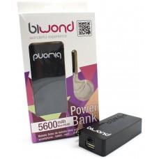 Power Bank 5600mAh Negro Biwond