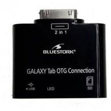 Bluestork BS-GAL-RDR/SD Samsung 30-pin USB 2.0/SD Card Negro adaptador de cable