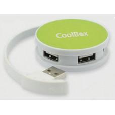 HUB USB COOLBOX  4 USB 2.0 ROUND VERDE COO-HU24SC-1