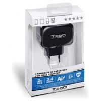 TooQ - Cargador de pared USB TQWC-1S02 - 2 Tomas - (Espera 3 dias)