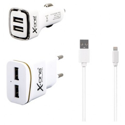 X-One Pack carg. coche +pared 2.1 +Lightning MFI